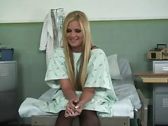 Sexy hospital patient Phoenix Marie fucked in the exam room