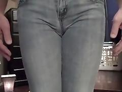 Sissy Pee and Wazoo Plug in Jeans