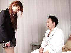 Adorable Asian tranny chick sucking and fucking lustily