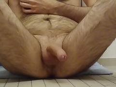 Furry  uncut  nipple play  throbbing and cumming
