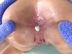 Big dick fucks the pussy and asshole of this milf slut