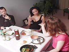 Black slut seduces a married man after a dinner party