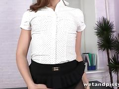 ###ary gets pissy and wet in the office