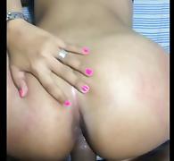 Latino couple POV anal
