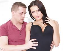 Vanessa Decker & Steve Q in Titty Fuck her big bouncing boobs! - DoghouseDigital