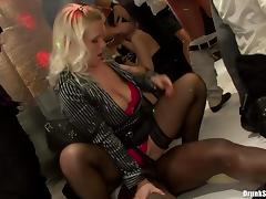 Lecherous babes give in to hardcore fucking at a club party in a reality shoot