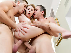Angel Smalls & Mick Blue & Markus Dupree in Tiny DP Cutie - HardX