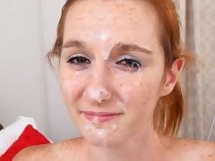 DeeDee in First Time Sperm Face - FacialsForever