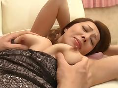 Son, Asian, Fingering, MILF, Seduction, Stepmom