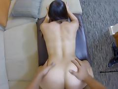 Fucking a hot babe doggystyle gives a nice view
