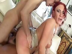 Hottest pornstar in amazing redhead, creampie xxx clip