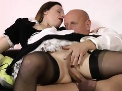Older brit maid creampied