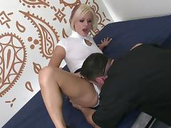 Small pleated skirt on a slut taking a hardcore pounding