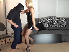 Blonde, BDSM, Blonde, Ballbusting, Ball Kicking