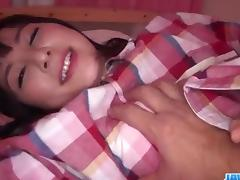 Dashing, Ayumi Iwasa, moans hard while enjoying hardcore sex