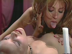 Christy and her best friend giving each other the oral satisfaction