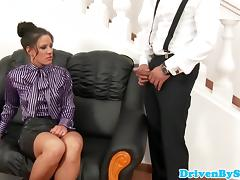 Submisive babe Anita throathed and jizzed