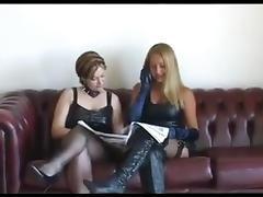 Two mistress femdom trampling