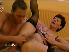 Oldy hairy granny Ibolya sex with boy