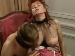 Rocco Siffredi fucking Busty Redhead