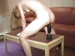 Blonde, Amateur, Blonde, Dildo, Huge, Toys
