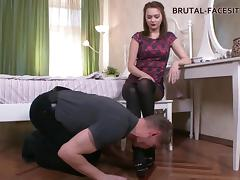 Luisa always makes her slave give her an unforgettable licking