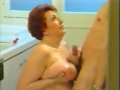 Surprising blowjob from mother-in-law