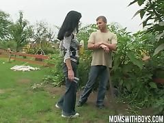 Euro Mom Fucking Her Young Diligent Gardener