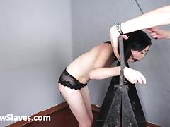 Merciless brazilian bdsm and lesbian whipping of 19yo amateur ### girl Demi in hardcore female domination and spanking