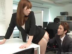 Messy penetration session for the hottest office worker in Japan