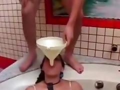 Lesbians piss femdom