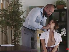 Hottest schoolgirl Zaya Cassidy and the long-awaited doggy ramming