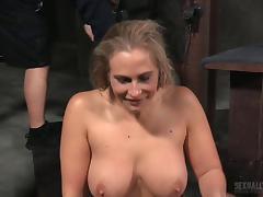 Curvy girl loves bondage and the joys of interracial fucking