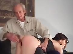 Two women spanked