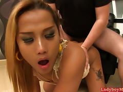 Ladyboy Ploy Sucking And Fucked Bareback