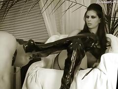 Black & white femdom adventure with Amy and her spineless slave