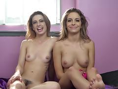 Delicious Kristen Scott and her friend Kimmy Granger in an interview