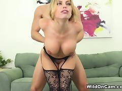 Britney Amber & Jay Smooth in Fuck Me In These Stockings - WildOnCam