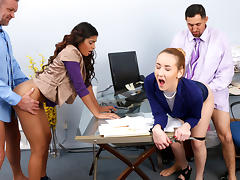 Gigi Flamez And Katalina Mills in Bring Your Daughter To Work Day - DaughterSwap