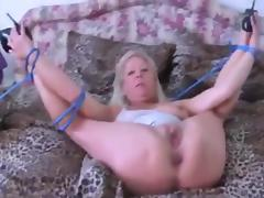 German Granny tied up and getting fucked Hard in High Heels