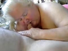 Nice blow job from BBW granny 2