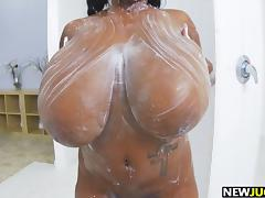 Big Black Tits Babe Rachel Raxxx Sucks Cock