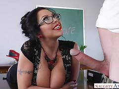 hot teacher sheridan loves fucking with her students