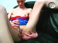 Slim Whore Dresses Up And Masturbates