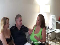 Fat mature bombshell gets nailed while her husband watches