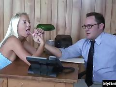Big ass blonde getting smashed hardcore in office reality shoot