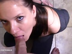 Handcuffs, Amateur, Blowjob, Choking, Deepthroat, Gagging