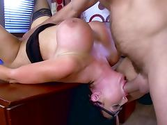 Office milf tries the new guy in a series of hardcore sex scenes