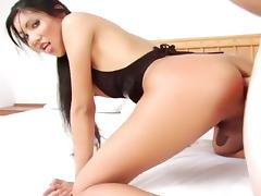 Hot Asian Transsexual Loves Hard Cock