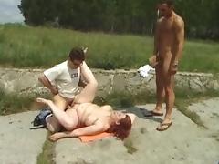 Crazy pornstar in amazing big tits, outdoor adult movie